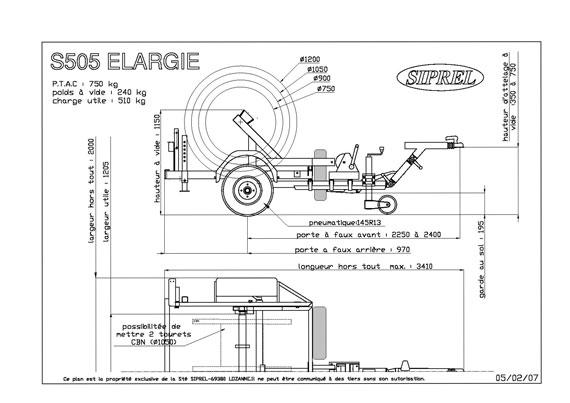 plan remorque dérouleuse S 505 L