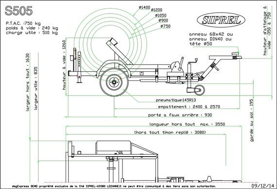 plan Remorque dérouleuse S 505