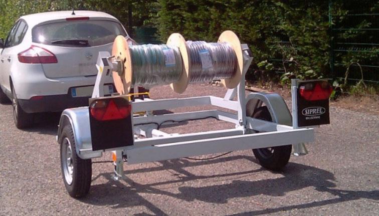Remorque dérouleuse S 505 L inférieures à 1 tonne