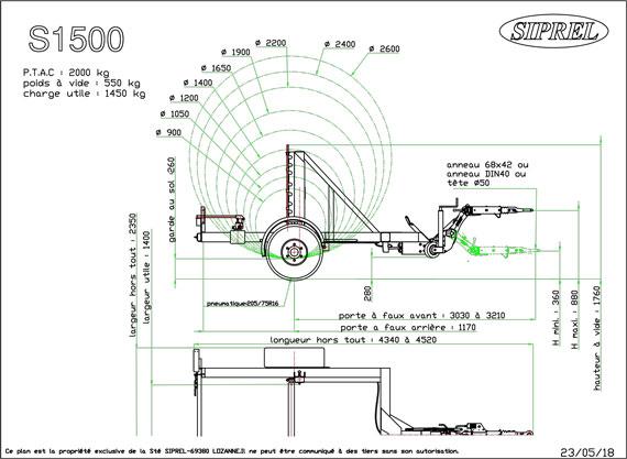plan remorque dérouleuse S 1500