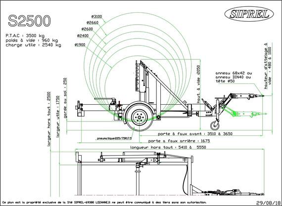 plan remorque dérouleuse S 2500