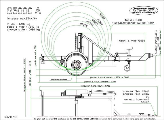 plan remorque dérouleuse S 5000 A