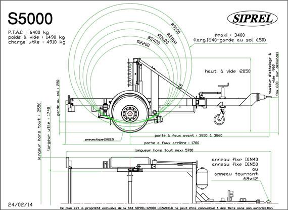 plan remorque dérouleuse S 5000
